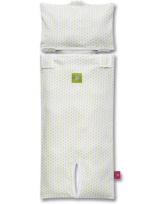 Nati Naturali Fodera per Materassino per Ovetto - Cuori - 100% Jersey di Cotone Bio (materassino non incluso) Accessori