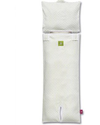 Nati Naturali Fodera per Materassino Seggiolino Auto (9-18 kg) - Cuori - 100% Jersey di Cotone Bio (materassino non incluso) Accessori Seggiolini Auto