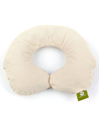 Nati Naturali Reggicollo in Pula di Farro + Fodera estraibile 100% Cotone Naturale (12-36 mesi) Cuscini da Viaggio