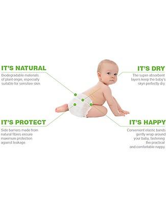 Naturaè Ecopannolini compostabili, Taglia Maxi 8-18 Kg - Confezione da 20 pezzi Pannolini Biodegradabili