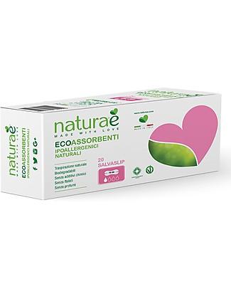 Naturaè Salvaslip Ecoassorbenti, Biodegradabili - Confezione da 20 pezzi Assorbenti e Salvaslip