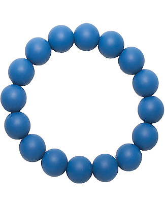 Nibbling Bracelets/Teething Ring - Sapphire - 100% Food Grade Silicone - Fast and Easy to Clean! Teethers