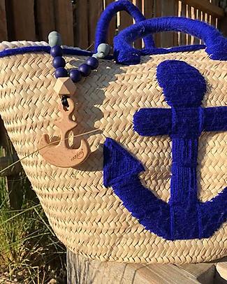 Nibbling Collana da Allattamento Natural Range - Anchor Navy/Grigio - Legno Naturale e Silicone Alimentare Collane Allattamento