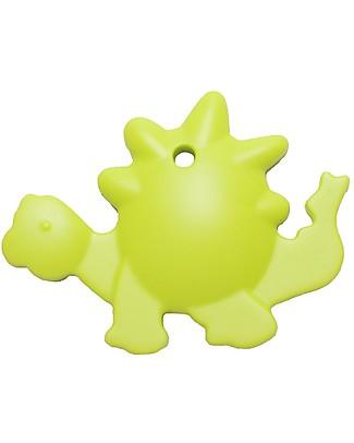 Nibbling Massaggiagengive e Collana di Allattamento 2 in 1 - Dinosauro Verde Chiaro - 100% Silicone Alimentare Massaggiagengive