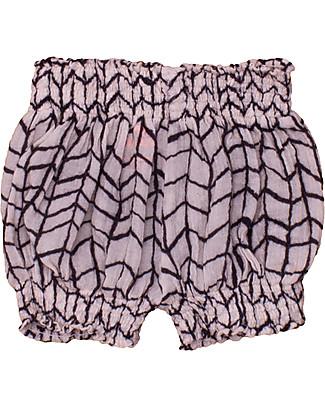 Noé&Zoë Pantaloncini a Palloncino, Griglia Ondulata Nera – 100% cotone Pantaloni Corti