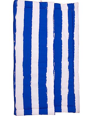 Noé&Zoë Tappeto Imbottito Baby, 85 x 85 cm – Righe XL Blu – 100% cotone Tappeti
