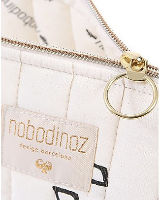 Nobodinoz Beauty Case, Nero/Naturale - Large 18x23 cm Trousse & Pochette