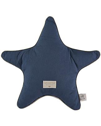 Nobodinoz Cuscino a Stella Aristote, Blu - 40 cm - Cotone bio null