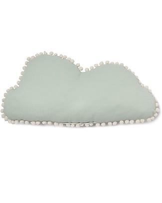 Nobodinoz Cuscino Nuvola Marshmallow, Acqua - 30x58 cm - Cotone bio Cuscini Arredo