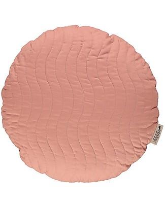 Nobodinoz Cuscino Rotondo Trapuntato Sitges, Rosa - 45 cm - Cotone bio Cuscini Arredo