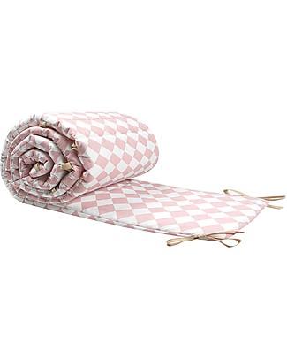 Nobodinoz Paracolpi per Lettino Costantinopoli, Diamanti Rosa - Cotone bio Paracolpi