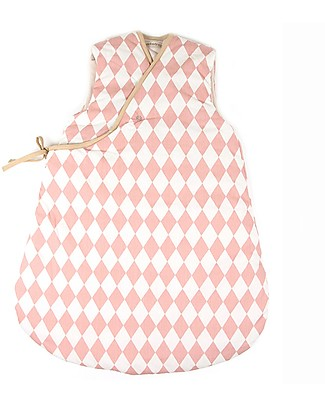 Nobodinoz Sacco Nanna Montreal 1,7 Tog, Diamanti Rosa (7-24 mesi) - Cotone bio Sacchi Nanna Pesanti