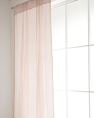 Nobodinoz Tenda per Finestra Utopia, Rosa - 146x280 cm - 100% Cotone Tende