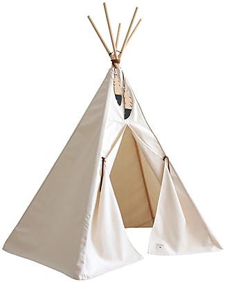 Nobodinoz Tenda Tipi Nevada, Natural - Cotone bio e legno  Tende Gioco