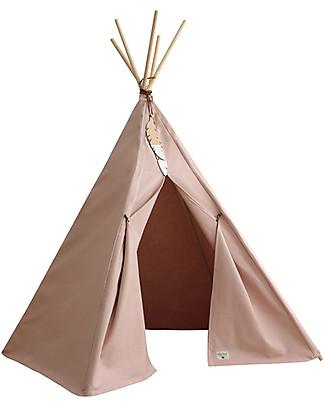 Nobodinoz Tenda Tipi Nevada, Rosa Chiaro - Cotone bio e legno Tende Gioco