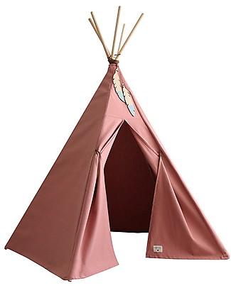 Nobodinoz  Tenda Tipi Nevada, Rosa Dolce Vita - Cotone bio e legno Tende Gioco