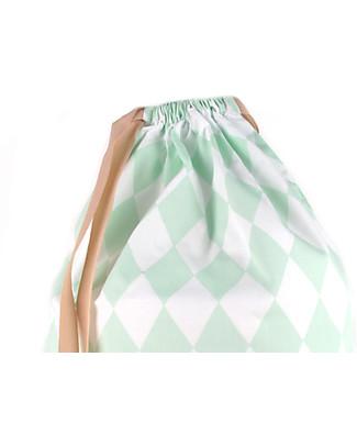 Nobodinoz Zainetto Bimbi Florencia, Diamanti Verde - Cotone bio Zainetti