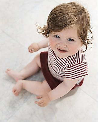 Noeser Ted, Maglietta a Maniche Corte con alette, Rosso/Righe - Cotone bio T-Shirt e Canotte