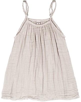 Numero 74 Abito Bimba Mia, Cipria (5-6 anni) - Doppia Mussola di Cotone Bio Vestiti