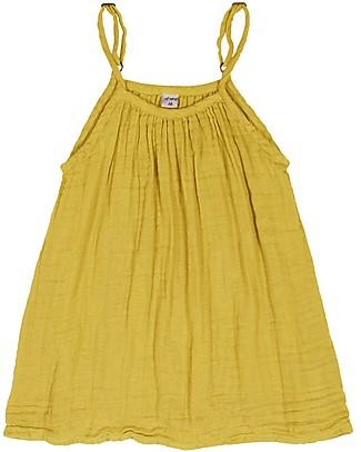 Numero 74 Abito Bimba Mia, Giallo Girasole (5-6 anni) - Doppia Mussola di Cotone Bio Vestiti