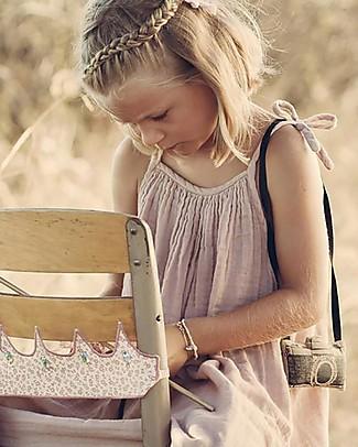 Numero 74 Abito Bimba Mia - Rosa Antico (5-6 e 7-8 anni) - Doppia Mussola di Cotone Vestiti