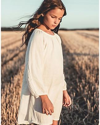 Numero 74 Abito Bimba Nina, Cipria (1-2 e 3-4 anni) - Doppia Mussola di Cotone Vestiti