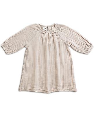 Numero 74 Abito Bimba Nina, Cipria (3-4 anni) - Doppia Mussola di Cotone Vestiti