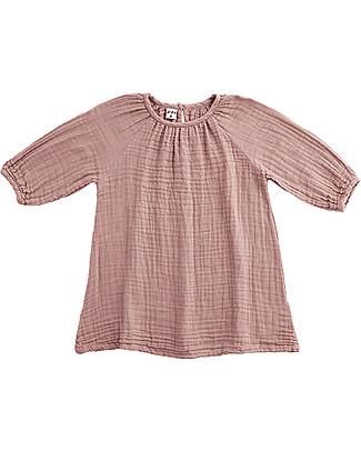 Numero 74 Abito Bimba Nina, Rosa Antico (1-2 e 3-4 anni) - Doppia Mussola di Cotone Vestiti