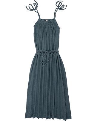 Numero 74 Abito Donna Mia - Blu Ghiaccio - Doppia Mussola di Cotone Vestiti