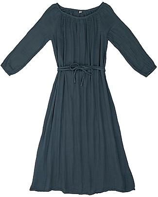 Numero 74 Abito Donna Nina - Blu Ghiaccio - Doppia Mussola di Cotone Vestiti