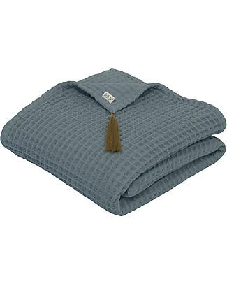 Numero 74 Asciugamano in Cotone Organico Nido d'Ape, Blu Ghiaccio - 70x140 cm Accappatoi e Asciugamani