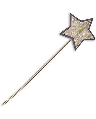 Numero 74 Bacchetta Magica Glitter - Lilla e Oro Travestimenti
