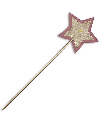 Numero 74 Bacchetta Magica Glitter - Rosa e Oro Travestimenti