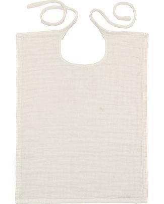 Numero 74 Bavaglio Quadrato Bianco - Doppia Mussola di Cotone Bavagli Classici