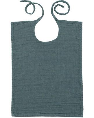 Numero 74 Bavaglio Quadrato Blu Ghiaccio - Doppia Mussola di Cotone Bavagli Classici
