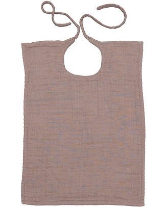 Numero 74 Bavaglio Quadrato - Rosa Antico - Doppia Mussola di Cotone Bavagli Classici