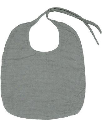 Numero 74 Bavaglio Rotondo Argento - Doppia Mussola di Cotone Bavagli Classici