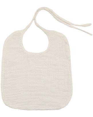 Numero 74 Bavaglio Rotondo Bianco - Doppia Mussola di Cotone Bavagli Classici