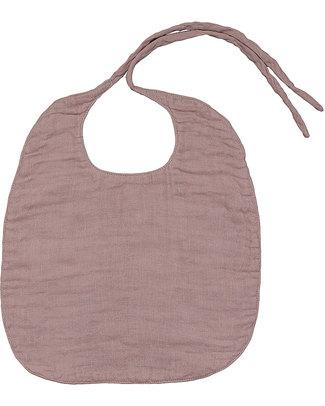 Numero 74 Bavaglio Rotondo Rosa Antico - Doppia Mussola di Cotone Bavagli Classici