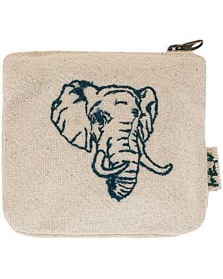 Numero 74 Borsellino Animale, Elefante in Cotone - Perfetto regalino per le feste Regalini
