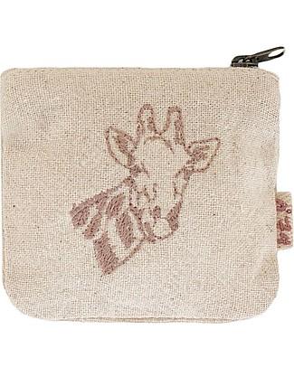 Numero 74 Borsellino Animale, Giraffa in cotone - Regalino perfetto per feste null
