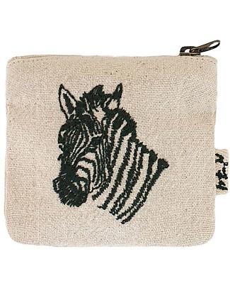 Numero 74 Borsellino Animale, Zebra in cotone - Regalino perfetto per le feste Regalini