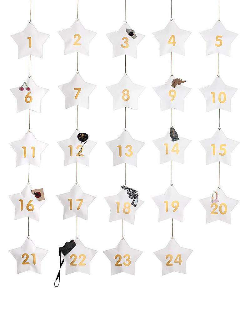 Calendario Di Avvento Per Bambini.Numero 74 Calendario Dell Avvento Stelle Bianche Con 24