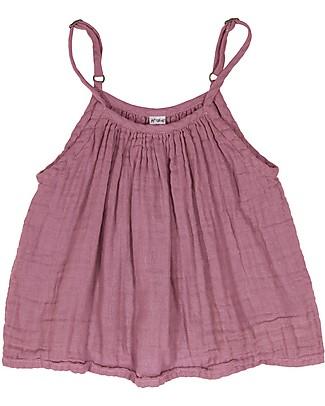 Numero 74 Canotta Bimba Mia, Rosa Baobab (3-4 anni) - Doppia Mussola di Cotone T-Shirt e Canotte