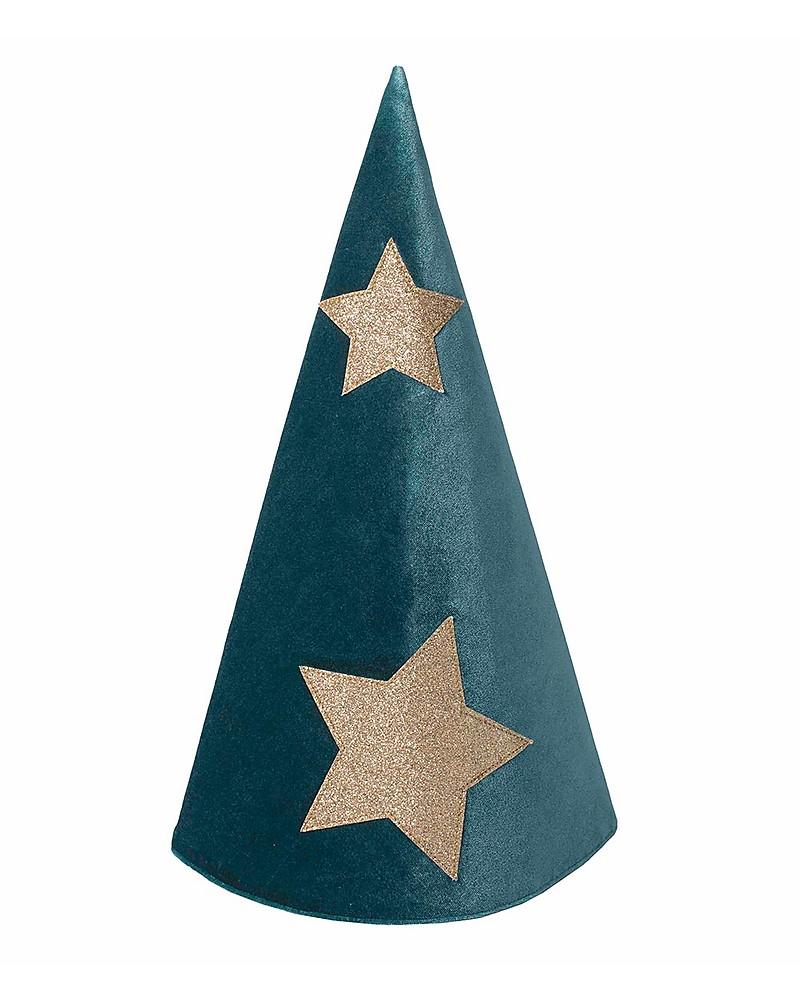 sconto di vendita caldo prodotti di qualità elegante nello stile Numero 74 Cappello da Mago Merlino - Velluto - Verde ...