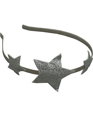 Numero 74 Cerchietto per Capelli - Stella d'Argento Glitter Fermacappelli