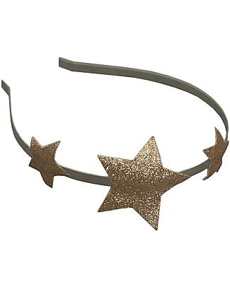 Numero 74 Cerchietto per Capelli - Stella d'Oro Glitter Fermacappelli
