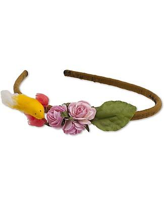 Numero 74 Cerchietto per Cappelli - Uccellino - Multicolore Fermacappelli