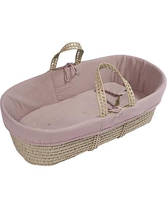 Numero 74 Cesta Porta Bebè - Rosa Antico Culle e Ceste