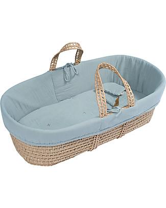 Numero 74 Cesta Porta Bebè - Sweet Blue Culle e Ceste